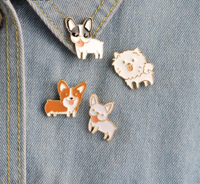 Cute Puppy Dog Pins