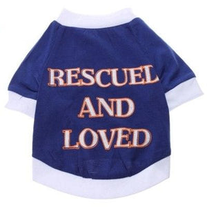 "Doggie shirt for the ""Rescued and Loved"""