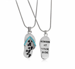 Always At Your Side Rhinestone Pendant Necklace