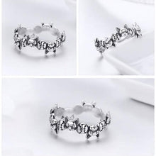 Load image into Gallery viewer, Sterling Silver French Bulldog Stack Ring