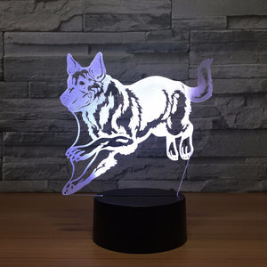 LED 3D German Shepard Lamp