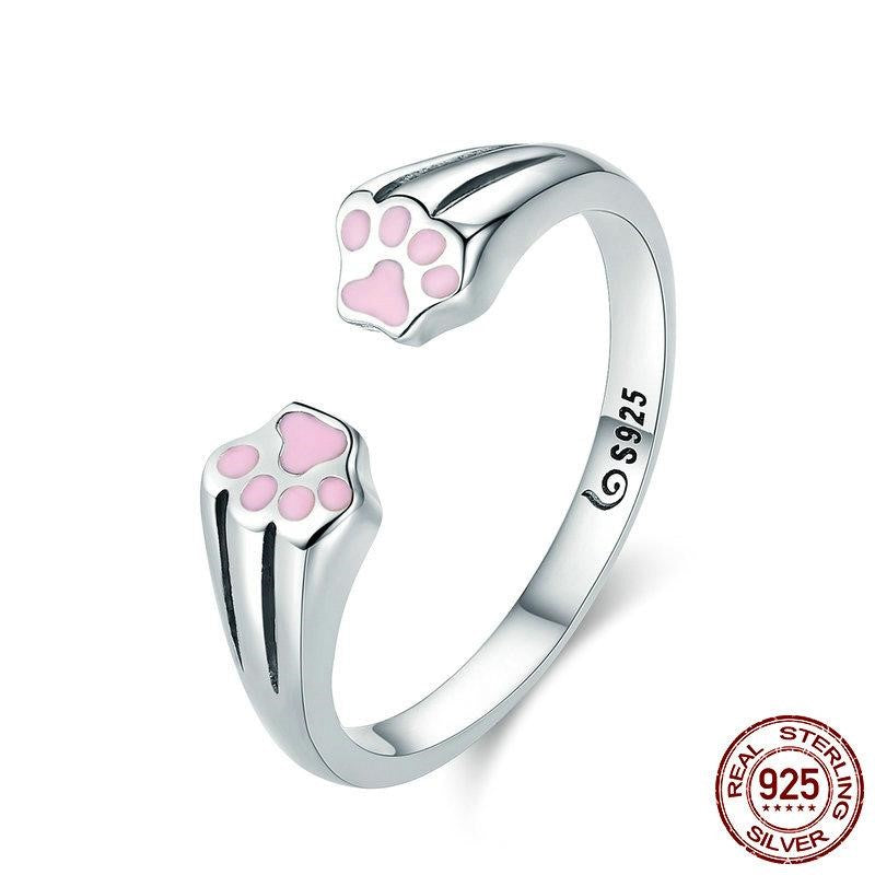 Sterling Silver Paw Wrap Ring