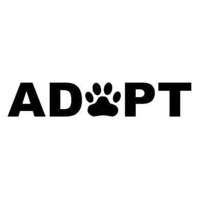Vinyl Decal Dog/Cat Adopt Rescue Car Sticker