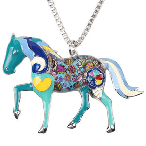 Bonsny Fashion Horse Necklace