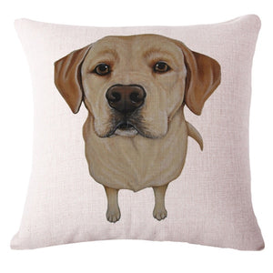 Cute Puppy Dog Novilty Print Pillow Covers