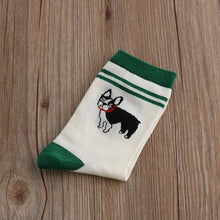 Load image into Gallery viewer, Novelty socks with cute dog motif.  Five styles to choose from pick one or buy all five for $25
