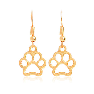 QIHE JEWELRY Doggie Charm Dog Paw Earring Dog Paw Jewelry Dog Lover Mans Best Friend Pet Animal Dog Gift