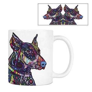 Art Deco Style Dog Print Ceramic Novelity Mugs