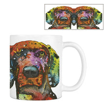 Load image into Gallery viewer, Art Deco Style Dog Print Ceramic Novelity Mugs