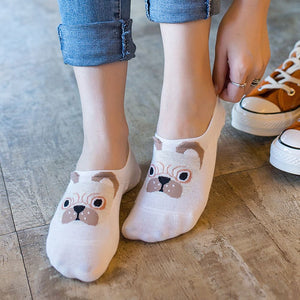 Women's/Girls Cute Fashion Dog Print Footlet Socks