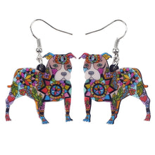 Load image into Gallery viewer, Dangle Style Pit Bull Dog Earrings