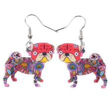 Load image into Gallery viewer, Pug Dog Earrings