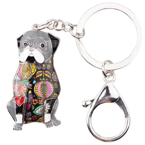Pug Dog Keychain/Pocket Book Pendant