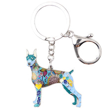 Load image into Gallery viewer, Doberman Lovers Dog Keychain