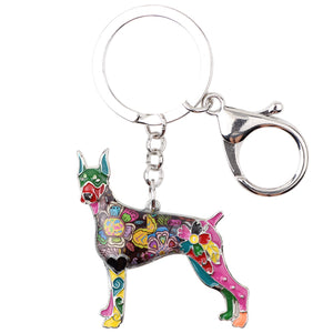 Doberman Lovers Dog Keychain