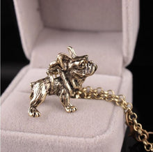 Load image into Gallery viewer, Shuangshuo Boho Hippie Vintage French Bulldog Necklace Women Lovely Puppy Bull Dog Statement Necklace for Women Fashion Jewelry