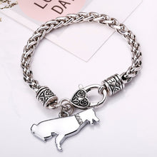 Load image into Gallery viewer, Silver Bracelet with Dog Cham