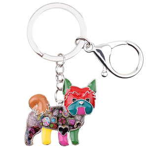 Yorkie Dog Key Chain/Pocket Book Pendant