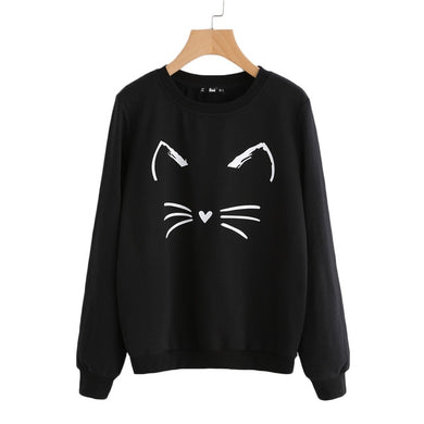 Woman's Sweatshirt  Kitty Face