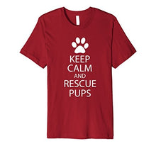 "Load image into Gallery viewer, Women's Tee ""Keep Calm and Rescue Pups"""