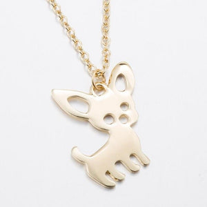 Shuangshuo Bohemian Tiny Chiwawa Necklace for Women Long Chain Pet Dog Necklaces & Pendants Ethnic Chiwawa Choker Necklace N253
