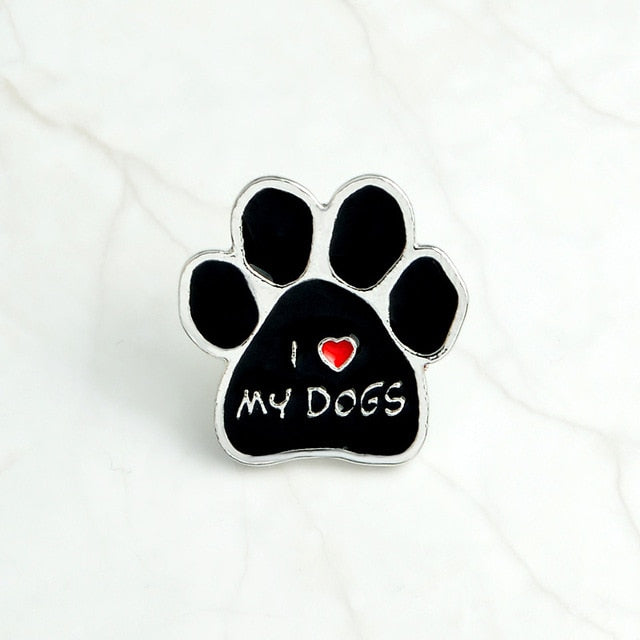 I love MY DOGS GRANDOG Brooch Pins WHO RESCUED WHO MY KIDS HAVE 4 PAWS Puppy My dog is smarter than president Badge Gift Jewelry