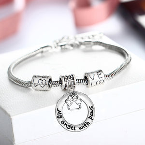 """My Angle with Paws"" Charm Bracelet"