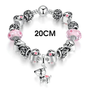 Adorable I Love U Dog Charm Bracelet