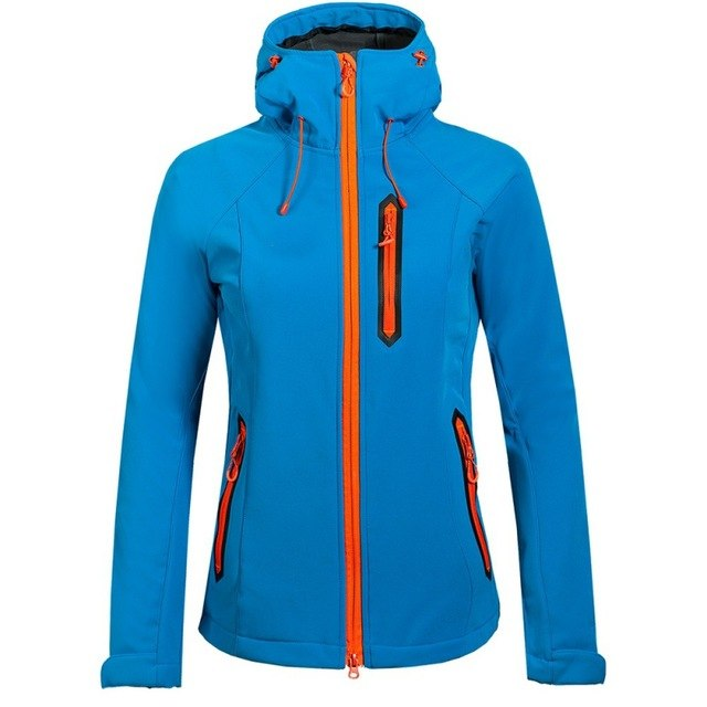 Women's Water/Windproof Soft Shell Fleece Lined Jacket
