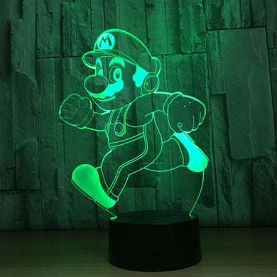 Novelty Cartoon Dog 3D LED Lamp