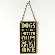 Load image into Gallery viewer, DOGS WELCOME Wooden Sign Board Retro Hanging