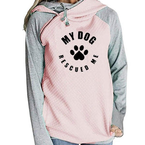 "Women's Lightweight Hoodie ""My Dog Rescued Me"""