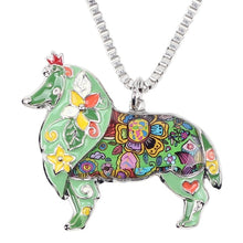 Load image into Gallery viewer, Collie Dog Pendant Necklace