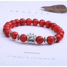 Load image into Gallery viewer, Natural Stone Bead and Charm Bracelet