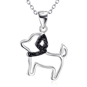 S925 sterling silver jewelry fox pendant diamond dog necklace manufacturers on behalf of a shipment