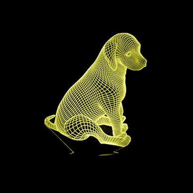LED 3D Puppy Dog Lamp