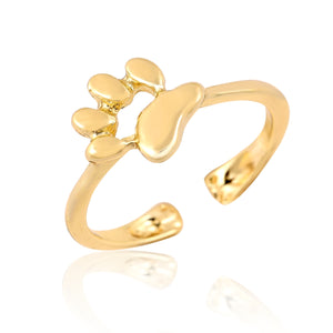 New Fashion Open Cat Paw rings for women Open Dog paw ring female Party Gifts