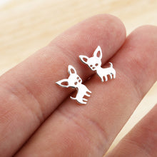Load image into Gallery viewer, Shuangshuo Chihuahua Earrings for Women Cute Dog Earrings Love My Pet Jewelry Animal Earrings 2018 Statement Earrings Animal