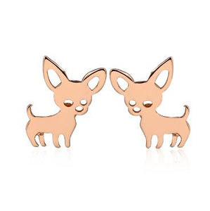 Shuangshuo Chihuahua Earrings for Women Cute Dog Earrings Love My Pet Jewelry Animal Earrings 2018 Statement Earrings Animal