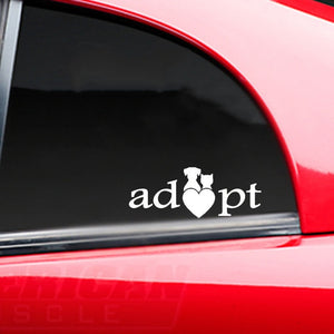 "Auto Decal ""I Love Adopt"""