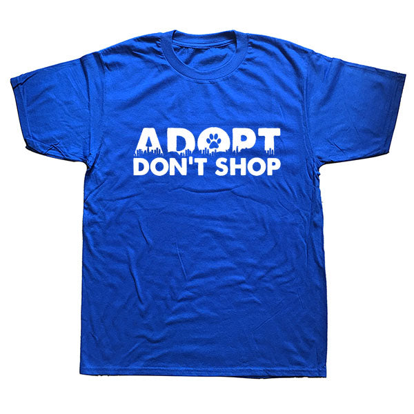 t-shirt Adopt dont shop royal blue