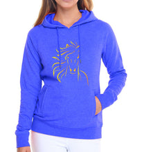 Load image into Gallery viewer, Woman's Fleece Horse Print Hoodie