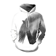 Load image into Gallery viewer, Abstract Horse Head Hoodie