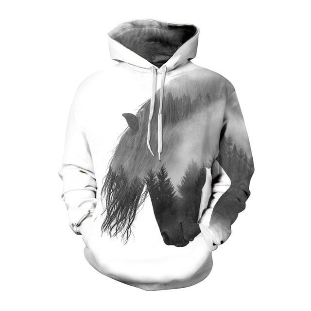 Abstract Horse Head Hoodie