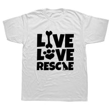 "Load image into Gallery viewer, ""Live Love Rescue""  T Shirt"