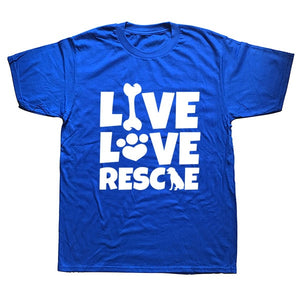 """Live Love Rescue""  T Shirt"