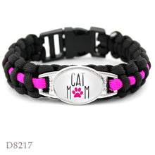 Load image into Gallery viewer, Paracord Pet Lover Bracelet