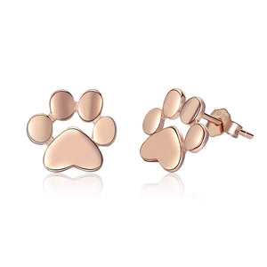 Sterling Silver Fashion Paw Earrings