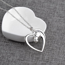 Load image into Gallery viewer, Horse In Heart Pendant Necklace