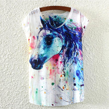 Load image into Gallery viewer, Woman's Tank with Graphic Horse Print